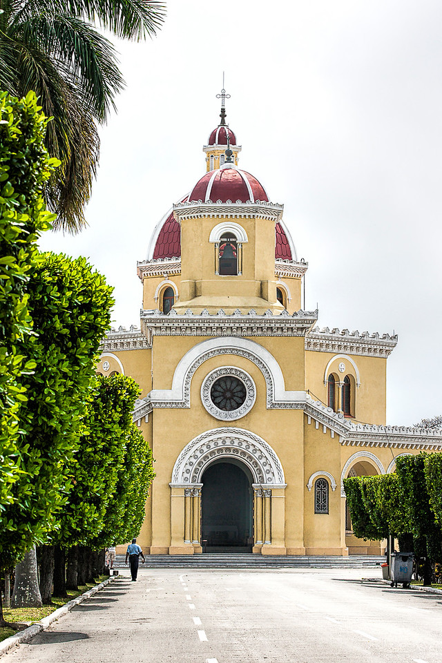 Church at Christopher Columbus Cemetery in Havana