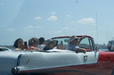 Tourists enjoying the ride