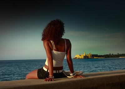 Woman on the Malacon