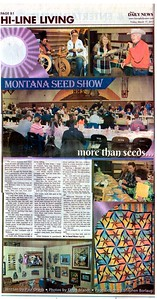 Floyd L Brandt Photojournalist Montana Seed Show judging the quality of seed in the area  March 03, 2017 Harlum, Montana High Line Living