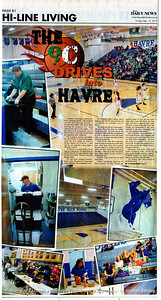 Floyd L Brandt Photojournalist  Behind the scenes of local basketball tournament at Havre High School February 17, 2017 Havre, Montana High Line Living