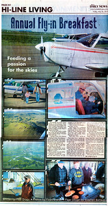 Floyd L Brandt Photojournalist Pancakes and airplane rides at the Fly In Breakfast  May 26, 2017 Havre, Montana High Line Living