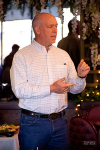 Havre Daily News/Floyd Brandt  Greg Gianforte talks with Havre residents at the Duck Inn Republican fundraiser Wednesday