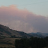 Havre Daily News/ Floyd Brandt<br /> <br /> Crews were call to fight a forest fire approximately 30 miles of Havre Sunday. The cause unknown Smoke could be seen from Beaver Creek Reservoir
