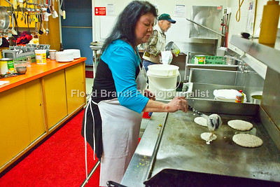 Making pancakes Andrea Bilger President of the Havre Eagles Club  volunteered to help raise money for Plant a Seed Read, Sunday. This was the third year that the event was hosted by the Eagles Club.  Plant a Seed Read brings children (ages 0 to 5) into the world of reading with the help of a parent or older sibling.