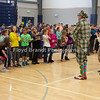 "Havre Daily News/Floyd Brandt<br /> <br /> Montana Actors Theatre visit to Havre Schools Friday brings laughter to students at Sunnyside School. MAT, promoting their newest play ""The Wind In the Willows"" students got a taste of the upcoming play ending with a dance that all the students took part in."