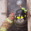 "Havre Daily News/Floyd Brandt<br /> <br /> Smoke poured out of a trailer parked at the Havre Fire Department where Firefighter Austin Shupe exits the Confined Space Training trailer Monday . The traing helps the firefighters prepare themselves for entering a fire that may be very confining and dangerous. Assisant Fire Chief Kelly Jones said that it gives his firefighters a chance to get use to their equipment and gear in small spaces and to look out for hazards. For Chris Cox, ""It was tight and you can't see anything but it was a lot of fun,"" he said."
