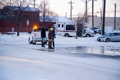 Havre Public Works crews respond to a water main break on 2nd Avenue late Wednesday afternoon.