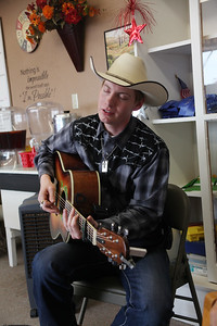Blain County Fair  Cole Moon gives a private performance for the Blain County Fair staff in their office Saturday. Video on Havre Daily News Facebook Page