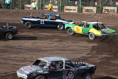 Blain County Fair  Crowd gathered for the Demolition Derby at the Blain County Fair Saturday.