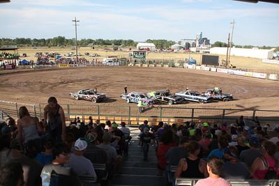 Blain County Fair  Crowd gathered for the Demolition Derby at the Blain County Fair Saturday.