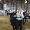 Havre Daily News / Floyd Brandt<br /> <br /> Erika Arnold 4H / FFA Senior Beef Showing Blain County Fair Saturday, Sir 1392lbs