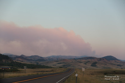 Havre Daily News/ Floyd Brandt  Crews were call to fight a forest fire approximately 30 miles of Havre Sunday. The cause unknown Smoke could be seen from Beaver Creek Reservoir   flames could be seen from the roadside East of the ski bowl.