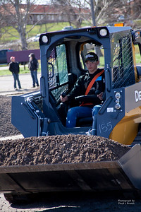 Havre Daily News/Floyd BrandtMontana State University Northern is hosted the 9th Annual TekNoXpo (Technology-Knowledge-Exposition) Thursday. High school students from around Montana were exposed to programs offered at MSU-N, Technical Sciences Agriculture, Automotive Technology, Construction Careers Technology, Diesel Technology and Nursing. Students had hands on operation to experience what each field would be like.Coltin Liddle from Chinook useing the skidster to move gravel.
