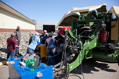 Havre Daily News/Floyd BrandtMontana State University Northern is hosted the 9th Annual TekNoXpo (Technology-Knowledge-Exposition) Thursday. High school students from around Montana were exposed to programs offered at MSU-N, Technical Sciences Agriculture, Automotive Technology, Construction Careers Technology, Diesel Technology and Nursing. Students had hands on operation to experience what each field would be like. Students find out about farm equipment what look for when in need of repair.