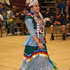 Havre Daily News/Floyd Brandt  <br /> <br /> Miss Kyi-yo Princes University of Montana Wozek Chandler, at the Sweetwater Pow wow Friday,  April 01, 2017 Havre, Montana