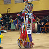 Havre Daily News/Floyd Brandt   <br /> <br /> Ronald Windy Boy dances in the elders dance at the Sweetwater Pow wow MSU-N Friday.  April 01, 2017 Havre, Montana. Windy Boy now lives in Great Falls but was born in Fort Belnap and severed in Vietnam. at age 70 he carried the eagle staff in the Grand Entry and is still dancing in tribal gatherings.
