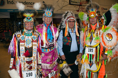 Havre Daily News/Floyd Brandt  (Left) Ronald Windy Boy, Gilbert Bruce Meyers, Melvin Rutherford, Luke Whiteman  April 01, 2017 Havre, Montana