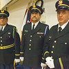 Havre Daily News/Floyd Brandt      <br /> <br /> (Left) Allen Nault, Jon Monteaux, and John Gardiipee from America Legion Post 67 Rocky Boy presented the colors during the Grand Entry at the Sweetwater Pow Wow Friday. Nault the eldest at age 70 severed in Vietnam.