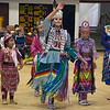 Havre Daily News/Floyd Brandt  <br /> <br /> Miss Kyi-yo Princes University of Montana,  Wozek Chandler at the Sweetwater Pow Wow April 01, 2017 Havre, Montana