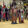 Havre Daily News/Floyd Brandt   <br /> <br /> Milton Madson and Ronald Windy Boy lead the Grand Entry carrying Eagle Staffs  April 01, 2017 Havre, Montana