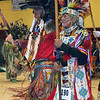 Havre Daily News/Floyd Brandt   <br /> <br /> (Left) Milton Madson and Ronald Windy Boy lead the Grand Entry carrying Eagle Staffs  April 01, 2017 Havre, Montana