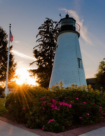 Concord Point Lighthouse at Sunset, Havre De Grace, Maryland