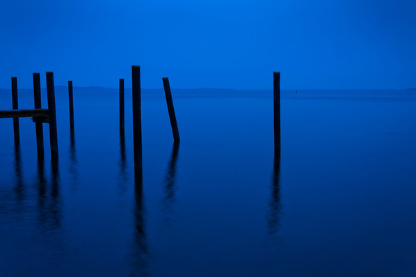 Pier Pilings at Twilight, Havre De Grace, Maryland