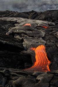 Molten Lava from Kilauea