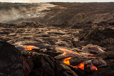 Flowing Lava from Kilauea