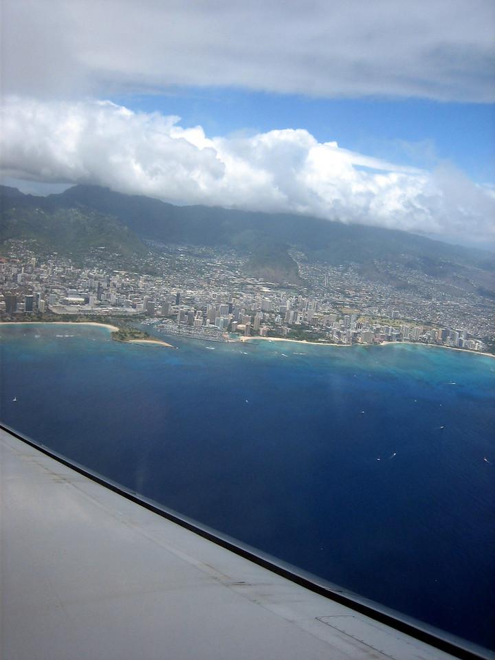 Leaving Honolulu bound for the Big Island.