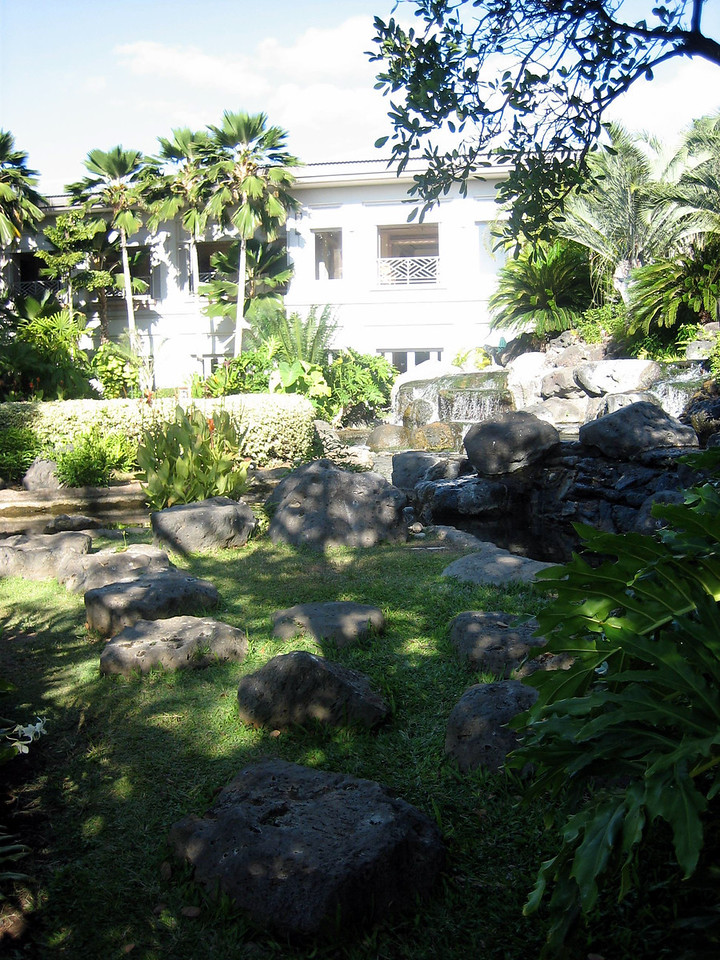 Grounds of the Fairmont Orchid.