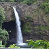 Rainbow falls near Hilo, wrong time of day to actually see rainbow.