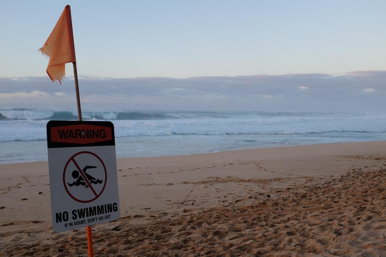 No swimming - Ekuhai Beach Park