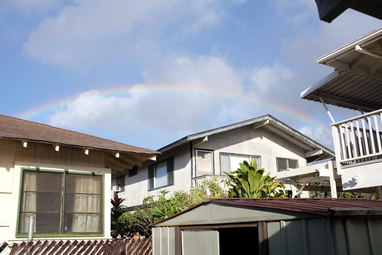 Morning rainbow, Ekaha Avenue, Honolulu