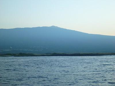 Hualalai from off the Kona coast