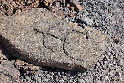 Petroglyph at Puako Petroglyph Archaeological District
