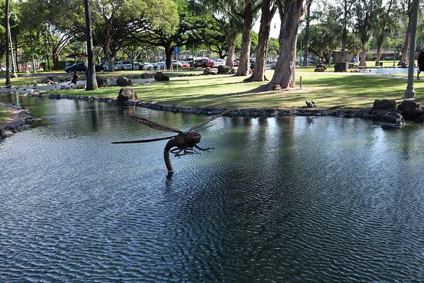 Dragonfly sculpture, Kapiolani Park