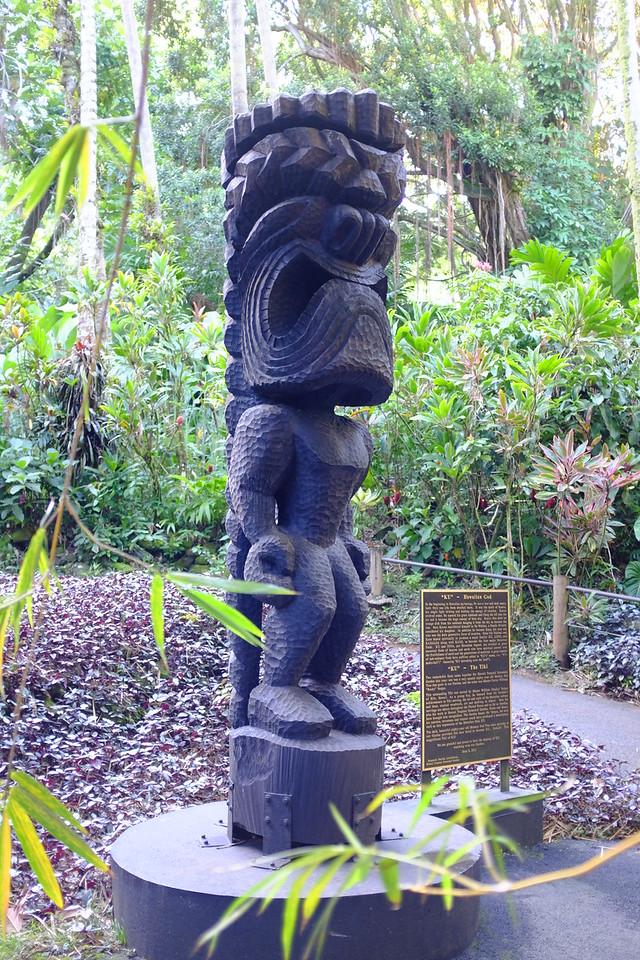 Ki'i of the god Ku, Hawaii Tropical Botanical Garden