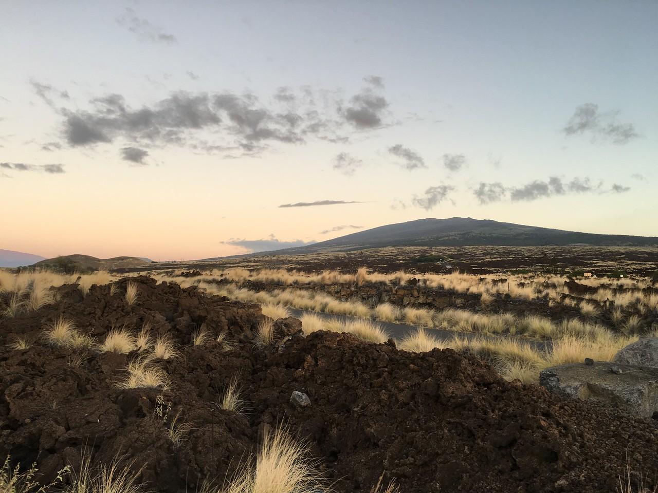 Mauna Kea by sunset, Kekaha Kai State Park, Kailua-Kona