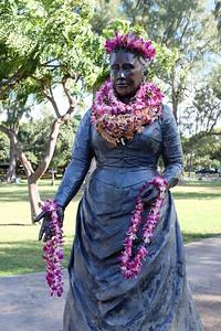 Queen Kapi'olani sculpture, Kapiolani Park, Honolulu