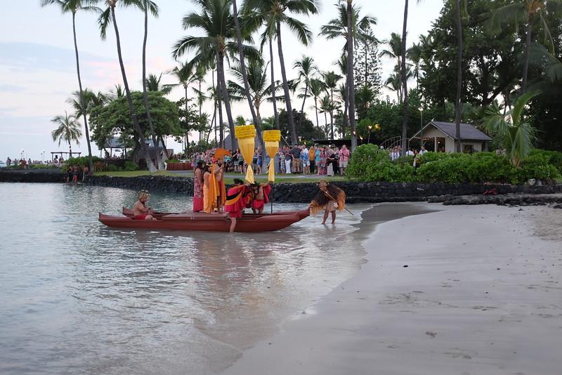 Landing on the beach