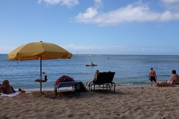 Soaking in the sun, Fort Derussy Beach, Waikiki