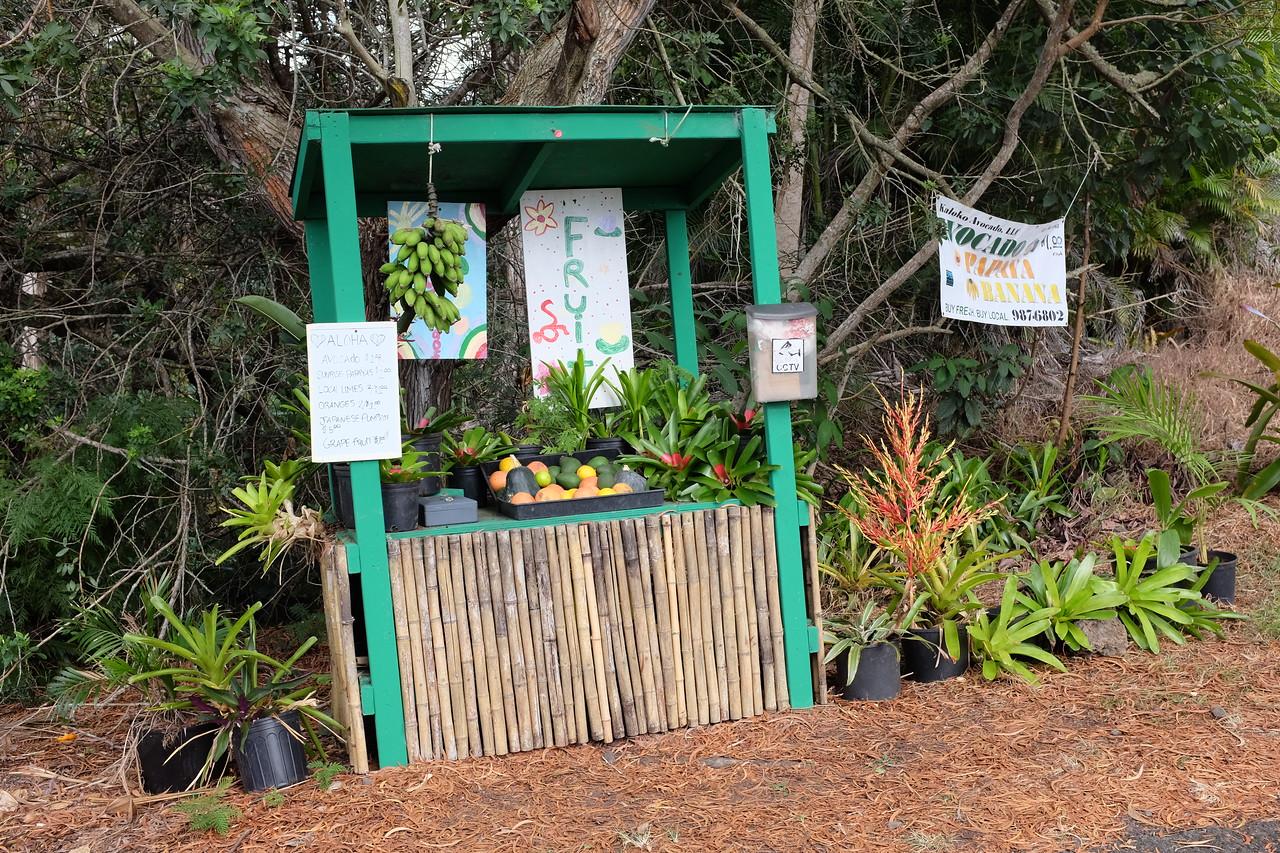 Farm stand, Hawaiian style