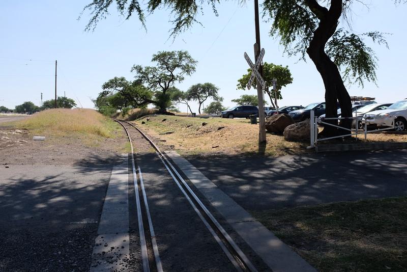 Old railway tracks, Kahe Point Beach Park