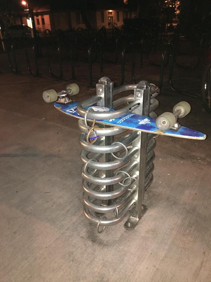Skateboard rack, University of Hawaii at Manoa campus