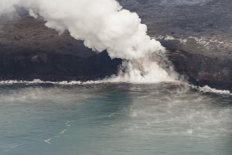Lava Flows Into the Sea