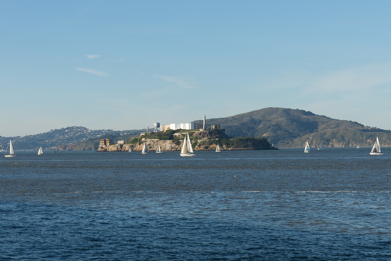 Alcatraz - an island in the middle of San Francisco Bay