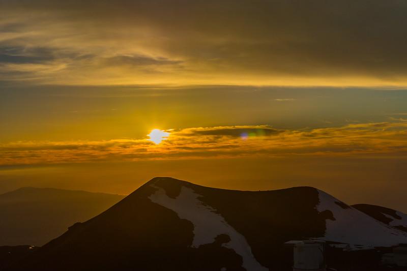 Mauna Kea Summit at Sunset