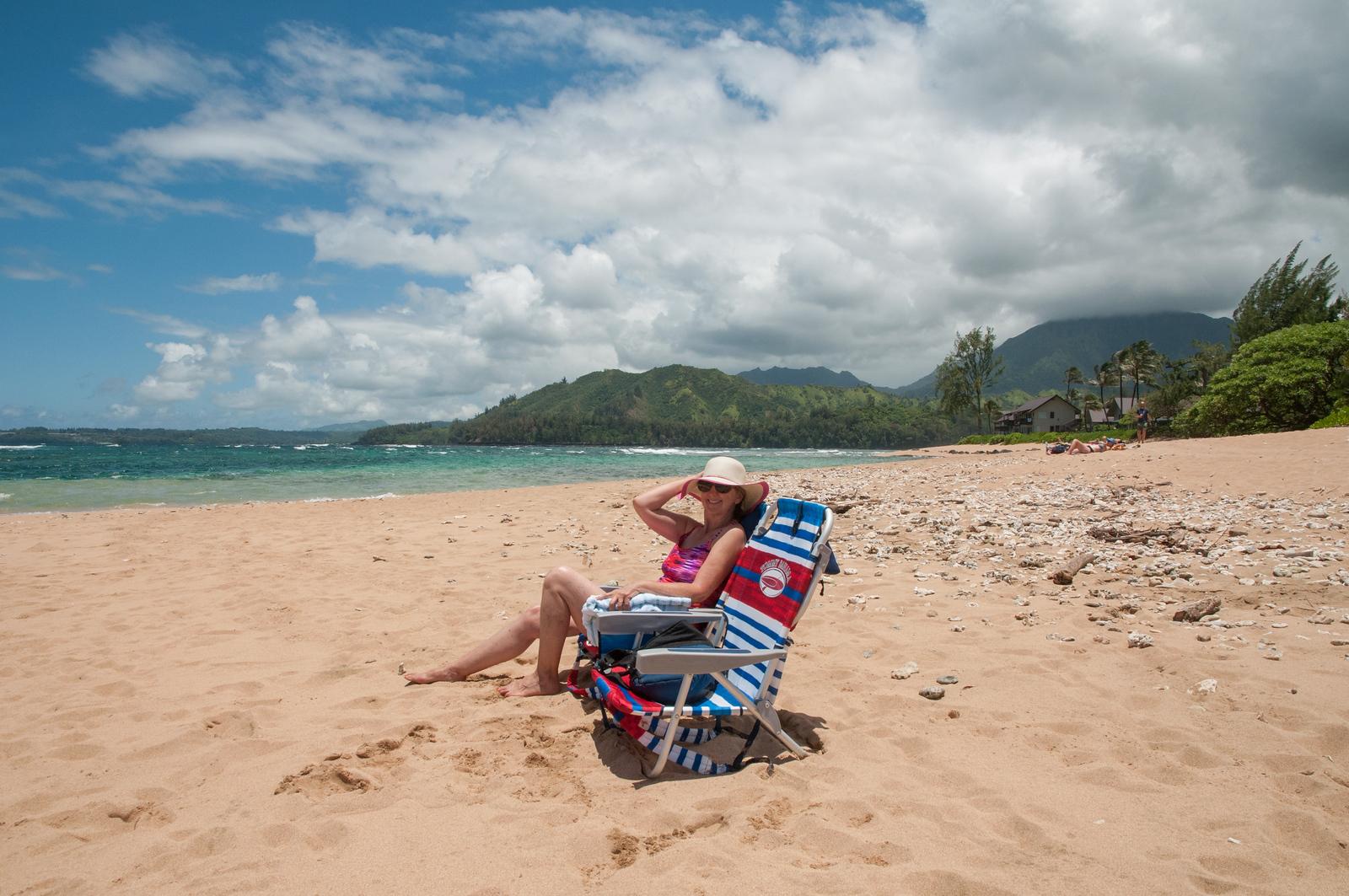 Hawaii 2017; Kauai. Hanalei Colony Resort, Lumaha'i Beach
